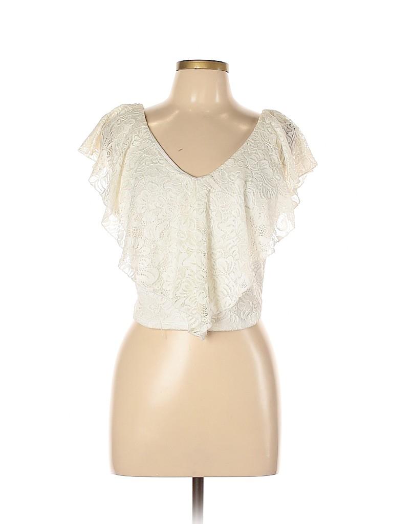 Charlotte Russe Women Short Sleeve Top Size XL