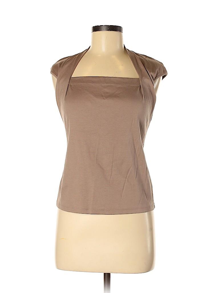 Lafayette 148 New York Women Short Sleeve Top Size S