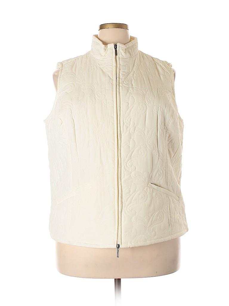 Croft & Barrow Women Vest Size 1X (Plus)