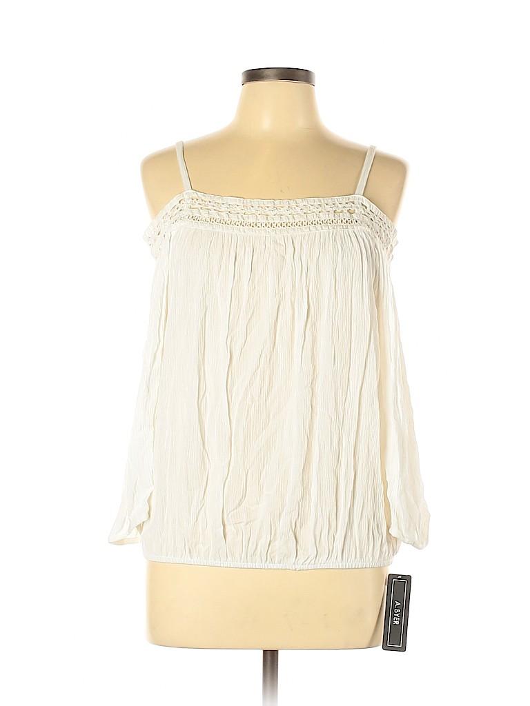 A. Byer Women 3/4 Sleeve Blouse Size L