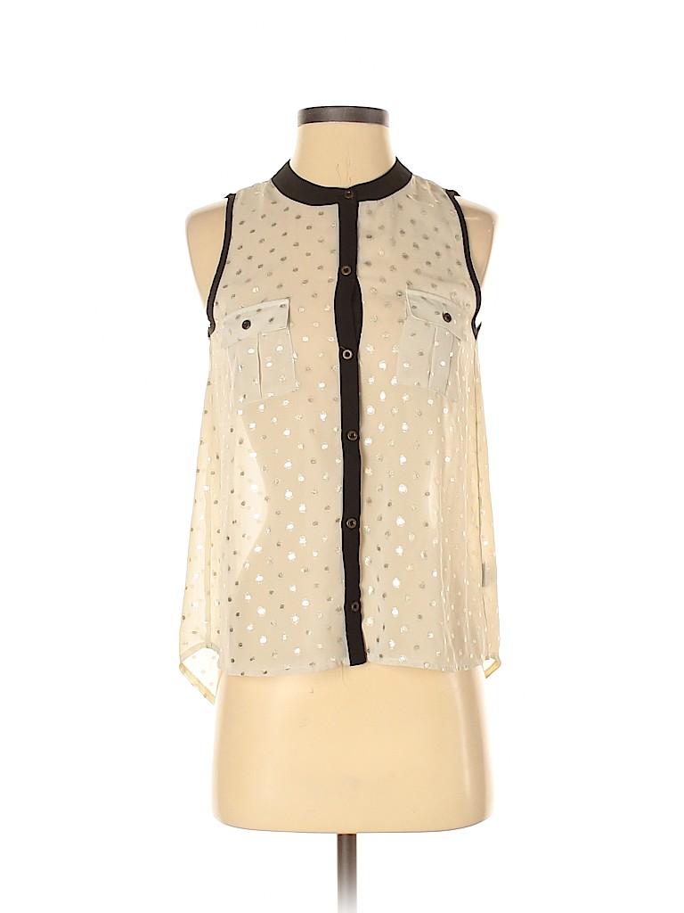 Monteau Women Sleeveless Blouse Size S