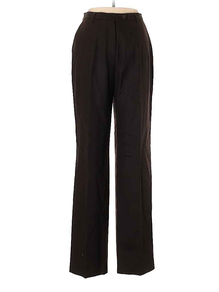 Les Copains Women Wool Pants Size 46 (EU)