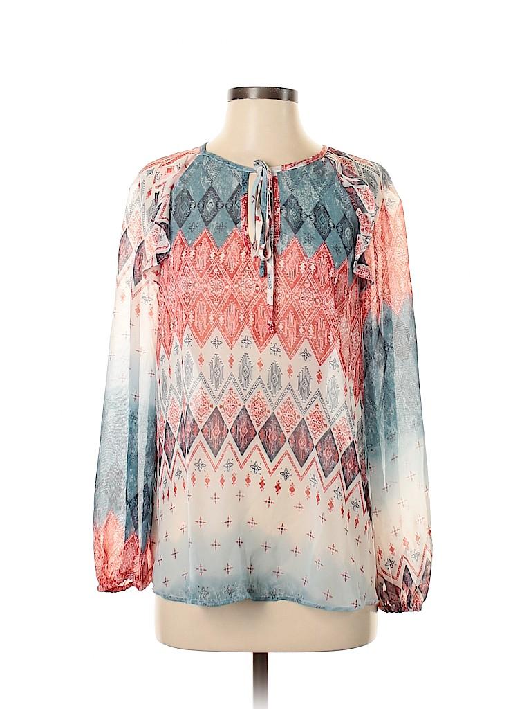 BCBGMAXAZRIA Women Long Sleeve Blouse Size S