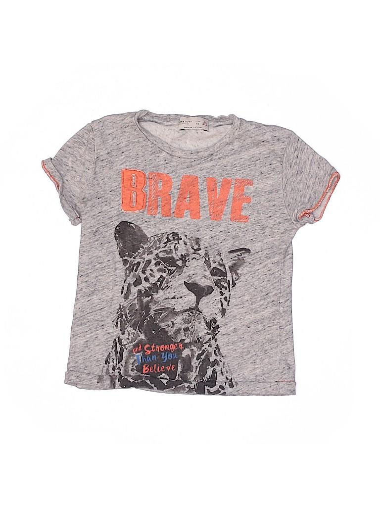 Zara Boys Short Sleeve T-Shirt Size 5