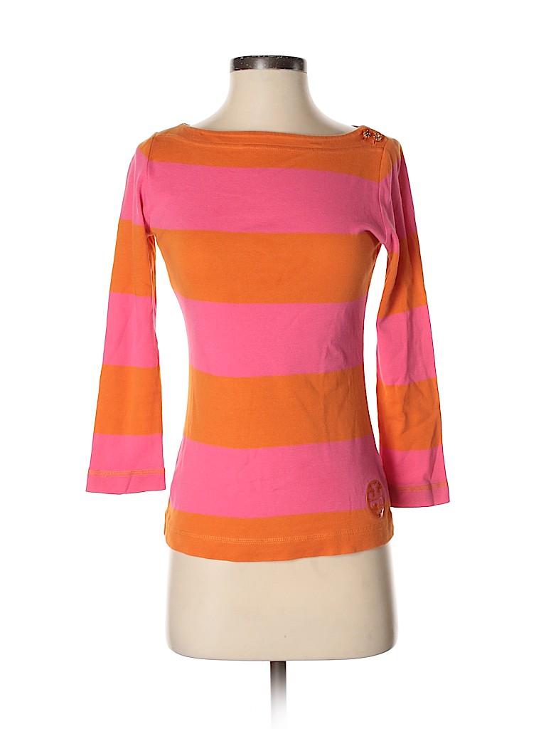 Tory Burch Women 3/4 Sleeve Top Size XS