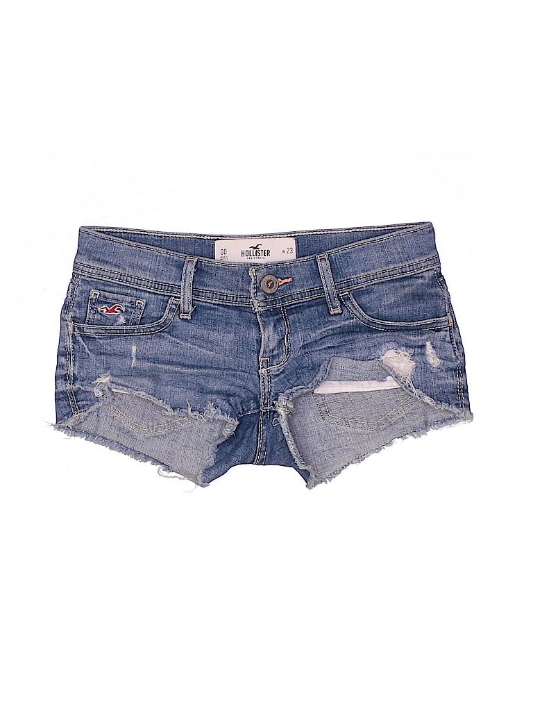 Hollister Women Denim Shorts Size 23 (Plus)