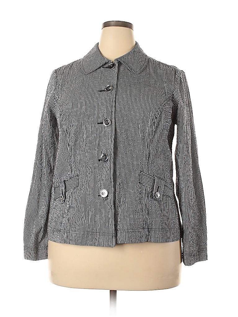 Charter Club Women Jacket Size 1X (Plus)