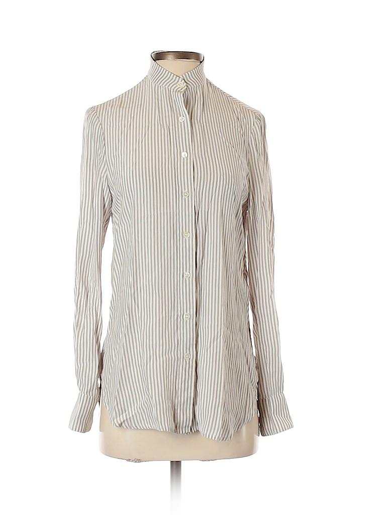 FRAME Women Long Sleeve Silk Top Size XS