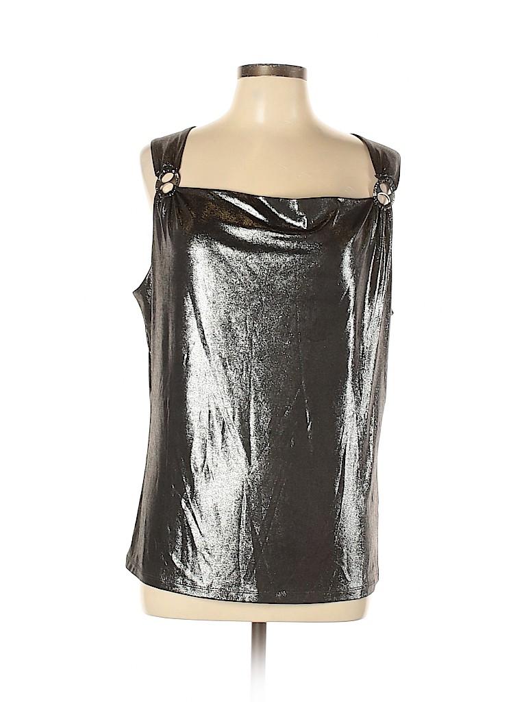 Adrienne Vittadini Women Sleeveless Top Size XL