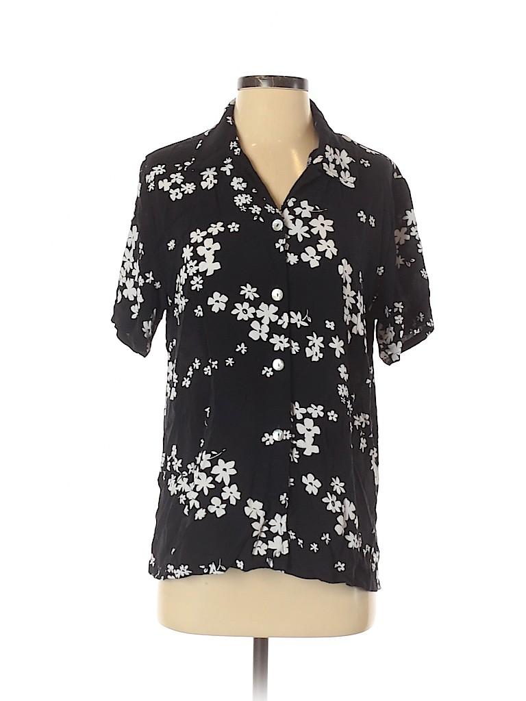 David Dart Women Short Sleeve Button-Down Shirt Size S