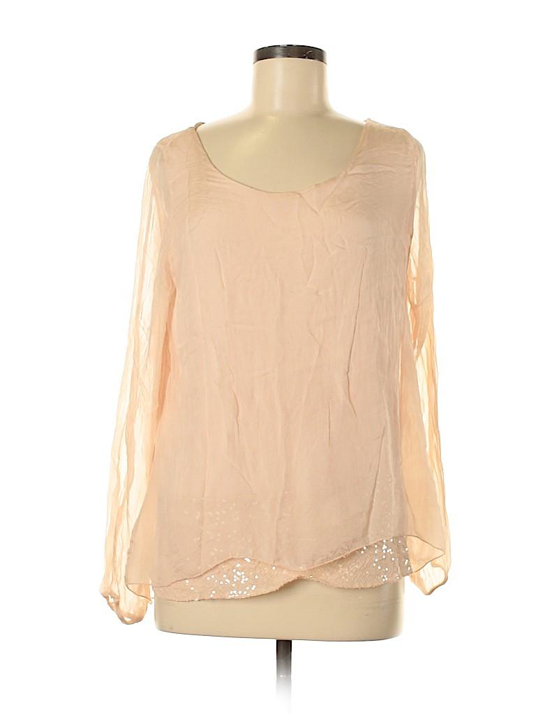 Dolce Ragazza Women Long Sleeve Blouse Size M