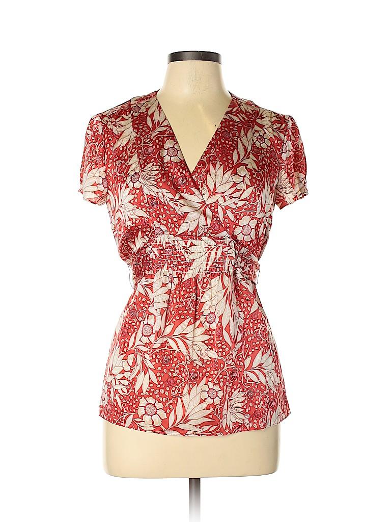 Ann Taylor Women Short Sleeve Silk Top Size 6
