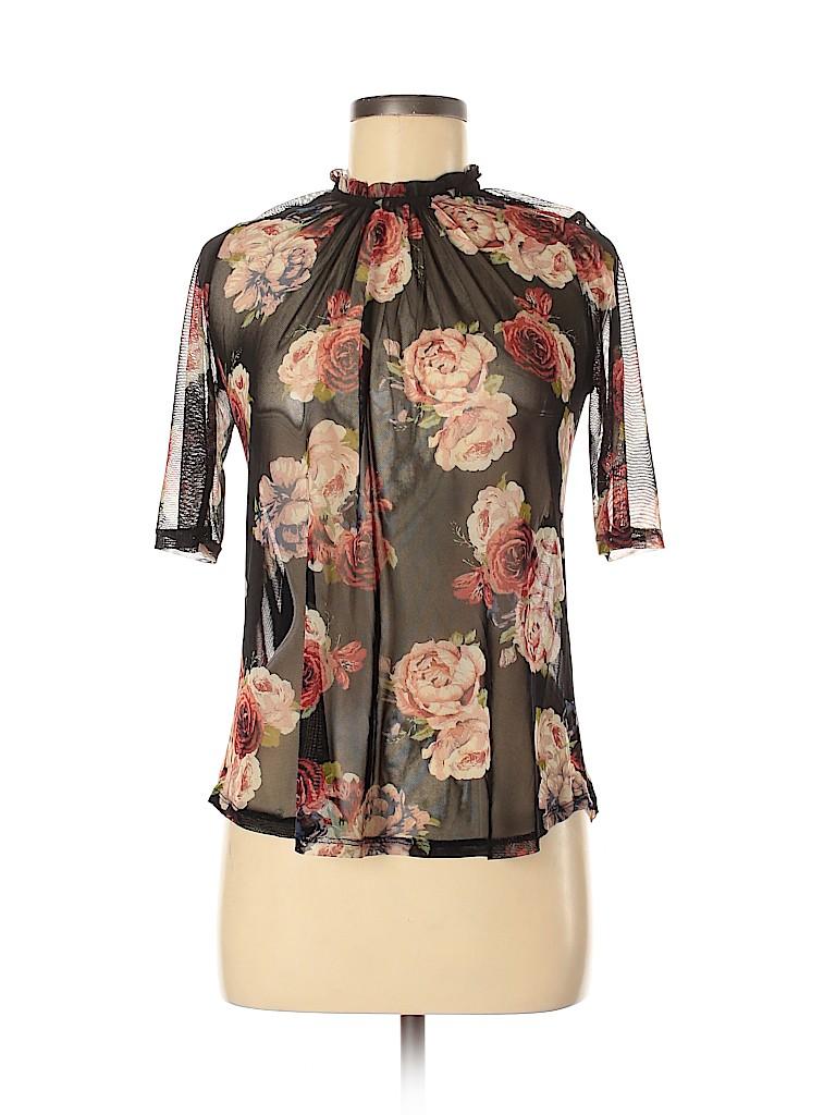 Monteau Women Short Sleeve Top Size M