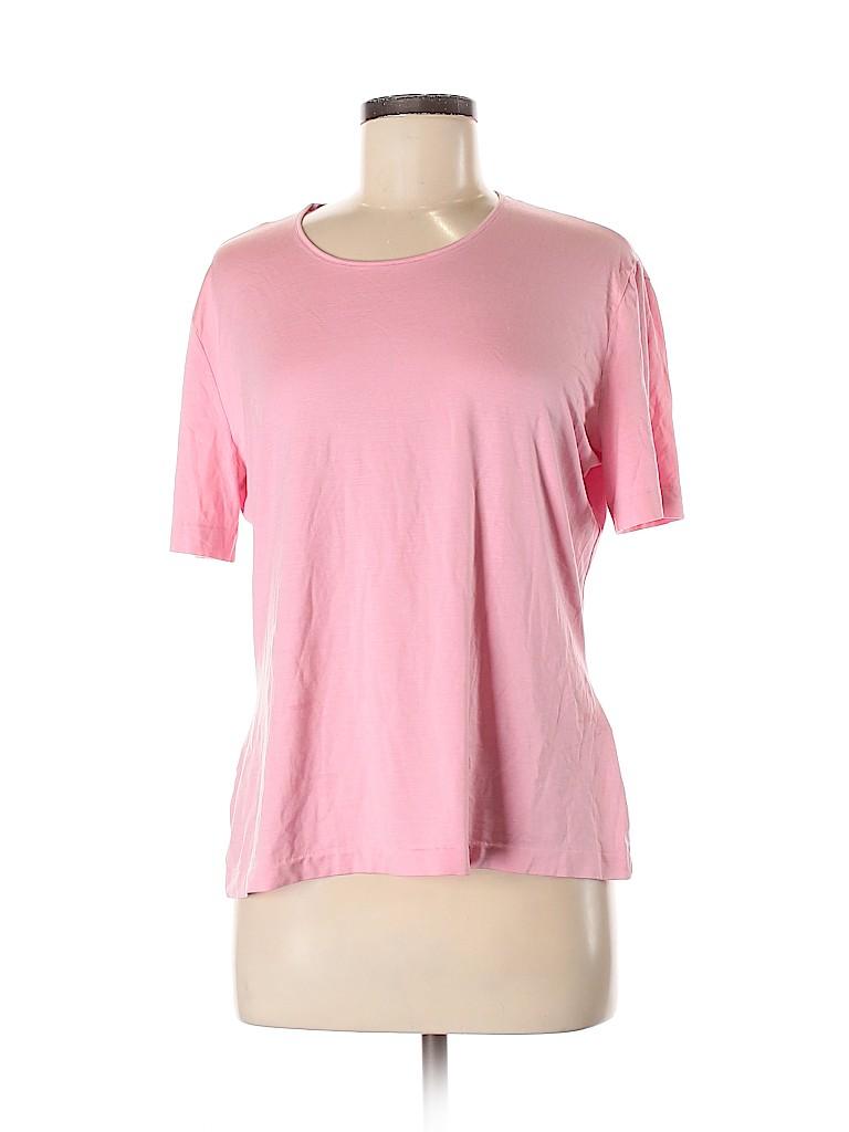 Escada Women Short Sleeve Silk Top Size 44 (IT)
