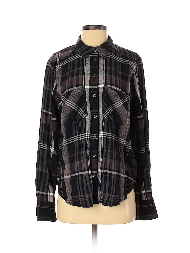 Free People Women Long Sleeve Button-Down Shirt Size S