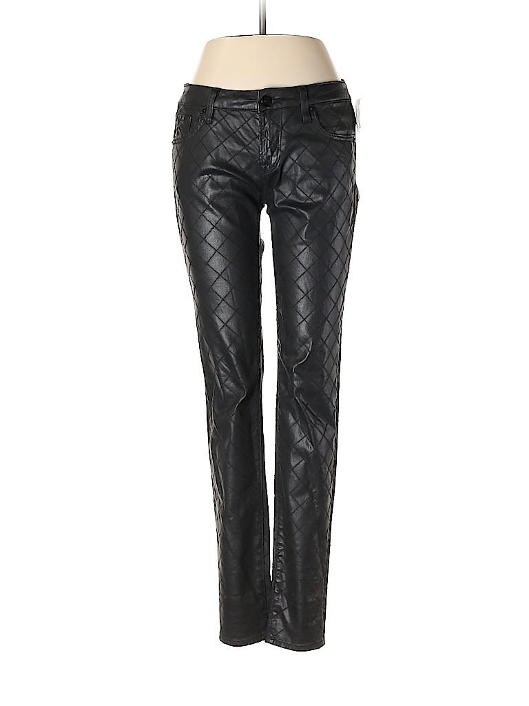 D-ID Women Faux Leather Pants 26 Waist