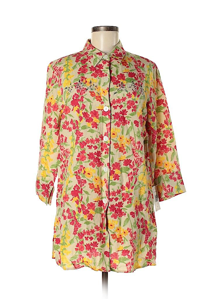 Field Manor Women 3/4 Sleeve Blouse Size M