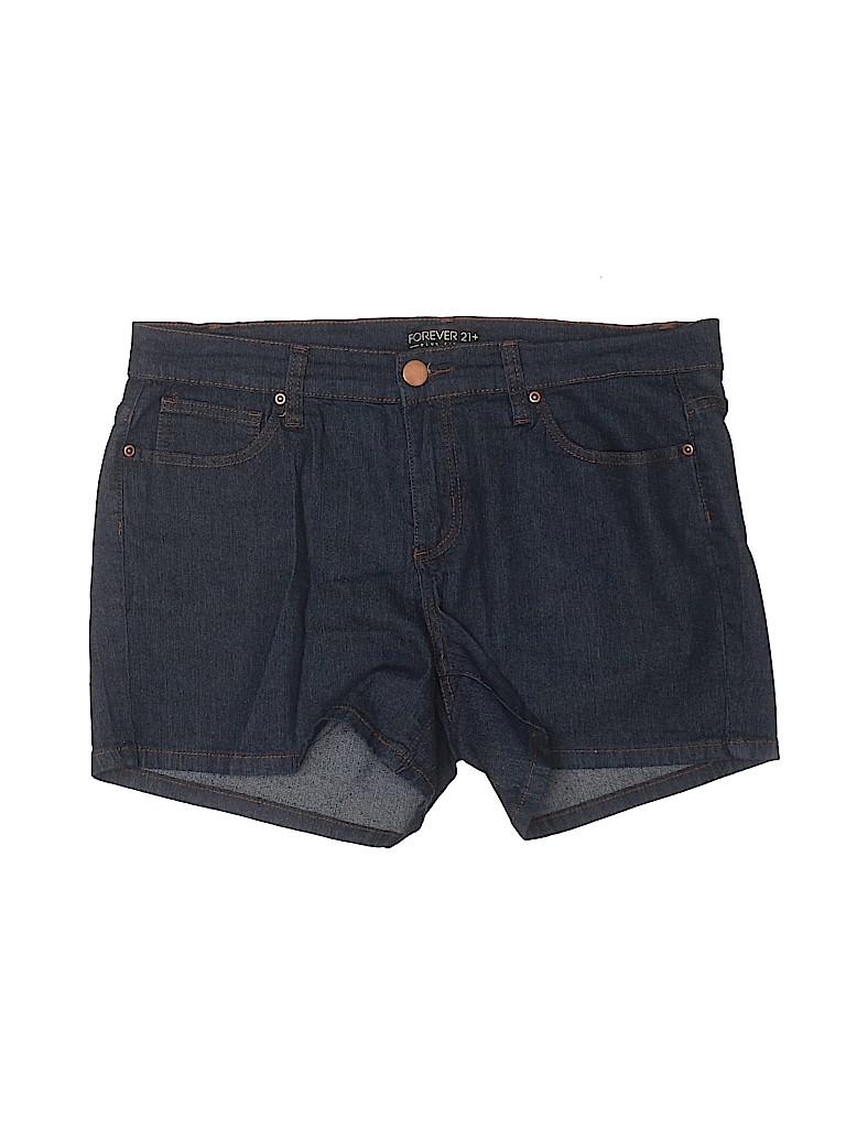 Forever 21 Plus Women Denim Shorts Size 14 (Plus)