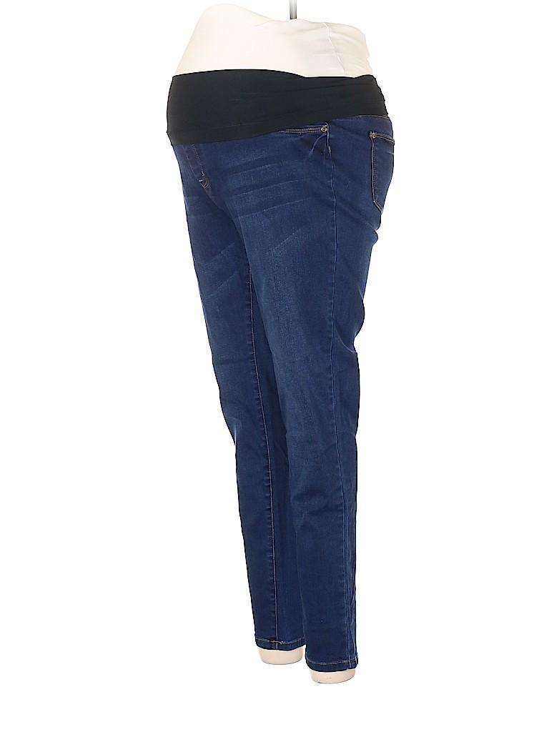 Planet Motherhood Women Jeans Size L (Maternity)