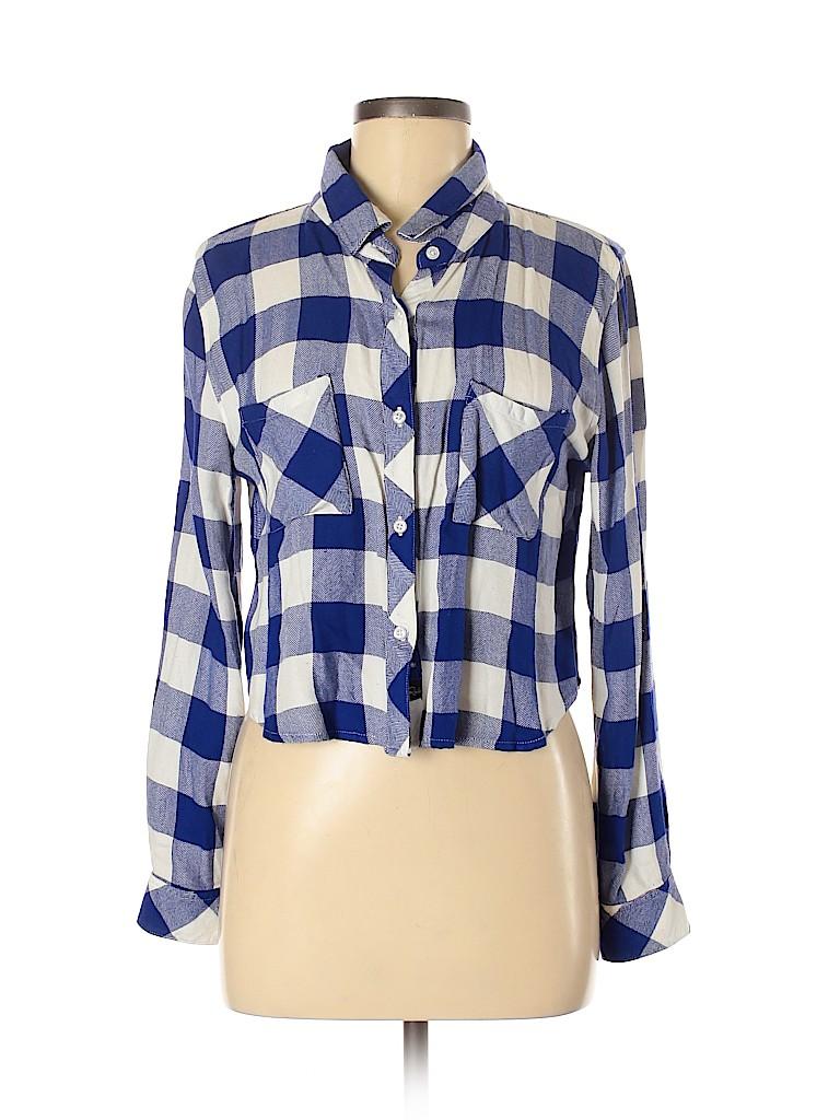 Rails Women Long Sleeve Button-Down Shirt Size M
