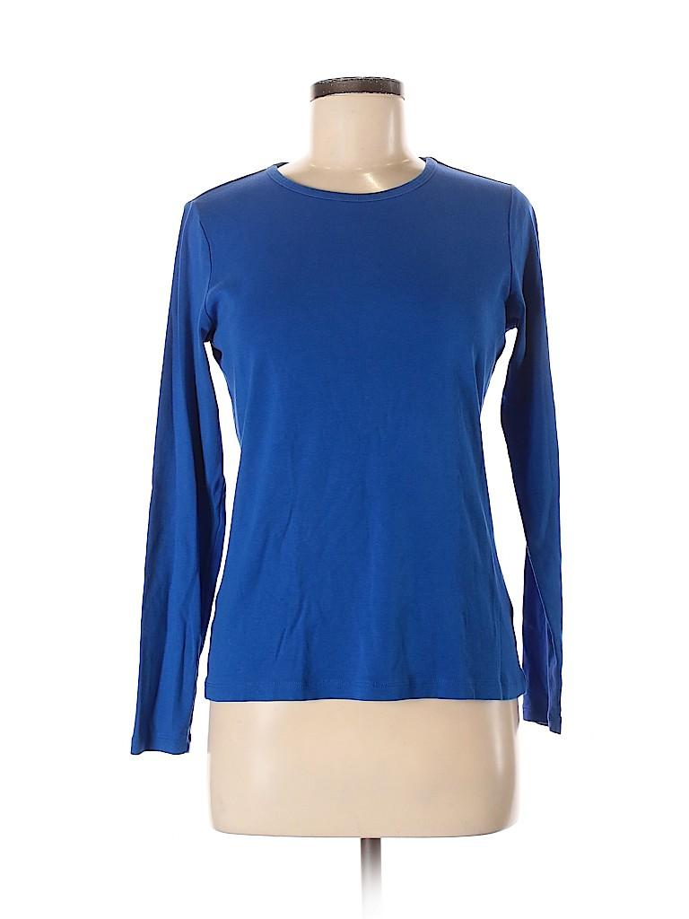 Lands' End Women Long Sleeve T-Shirt Size M