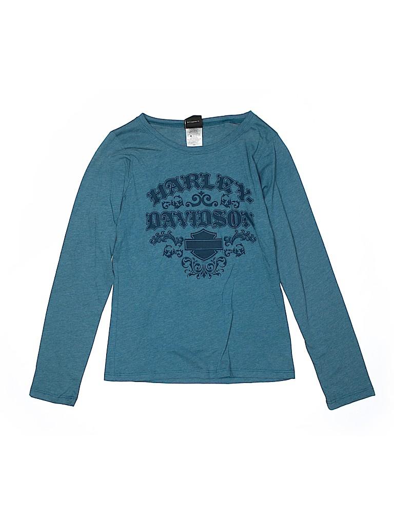 Harley Davidson Boys Long Sleeve T-Shirt Size L (Youth)