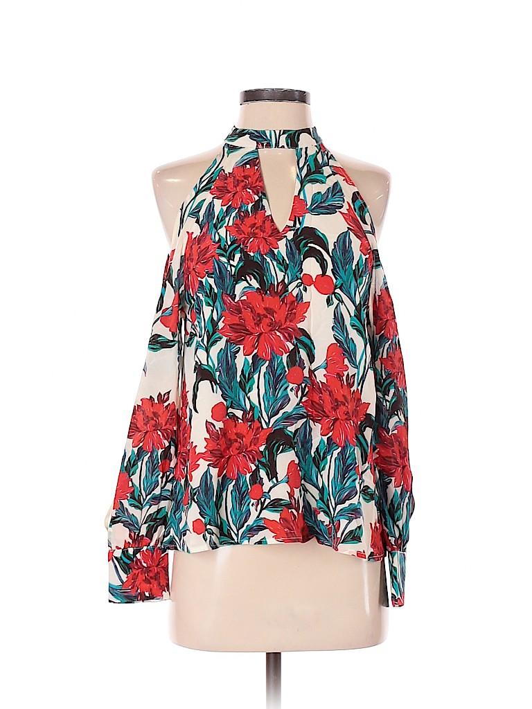 Chloe Oliver Women Long Sleeve Silk Top Size XS