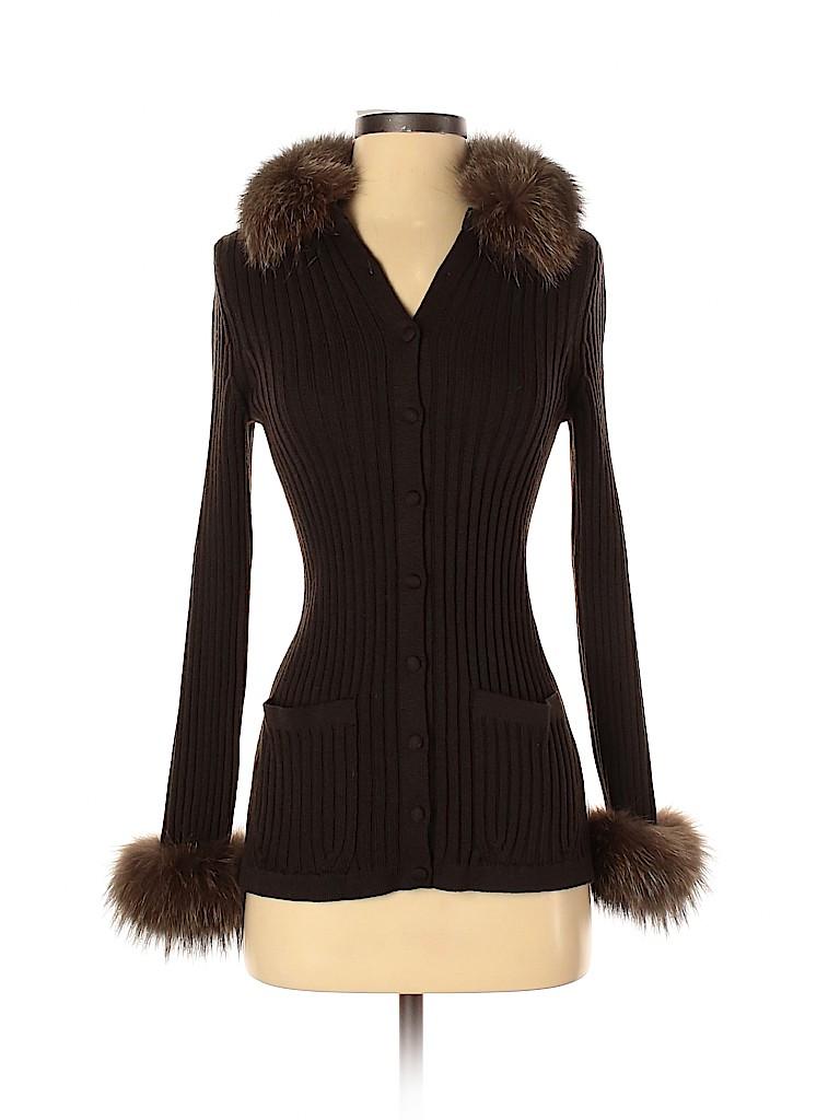 RENA LANGE Women Wool Cardigan Size 4