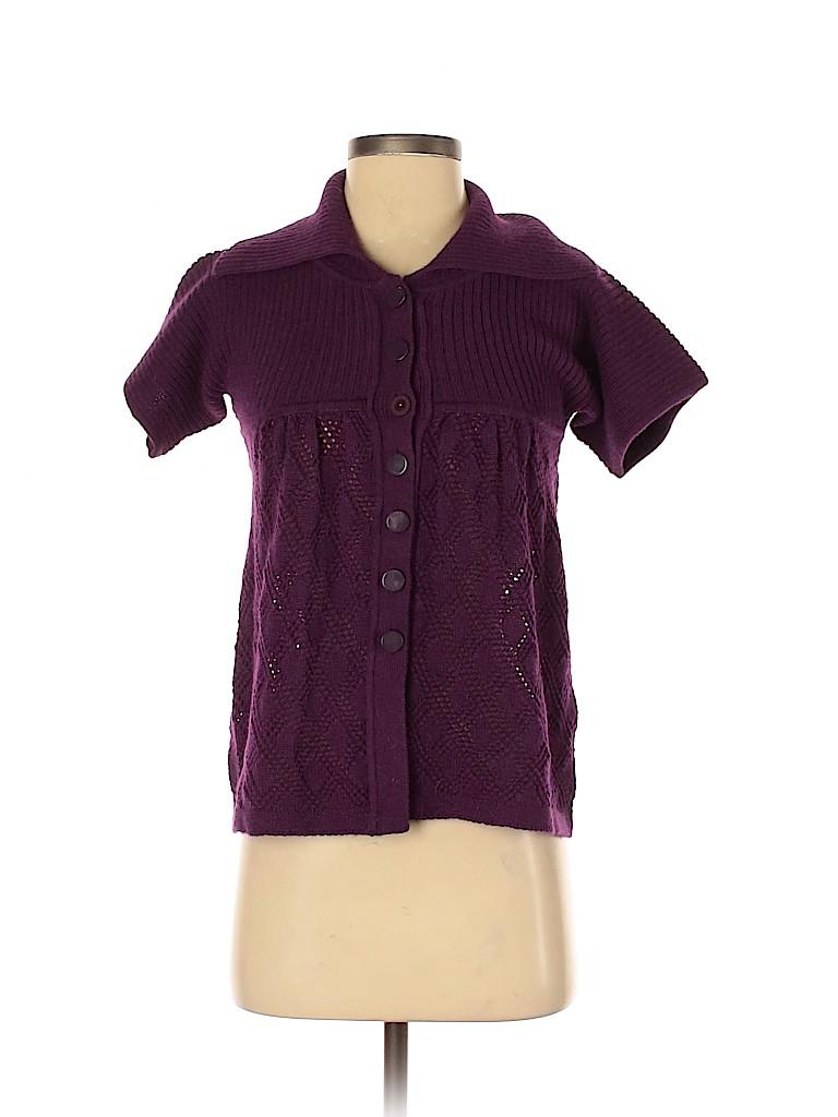 Catherine Malandrino Women Wool Cardigan Size S