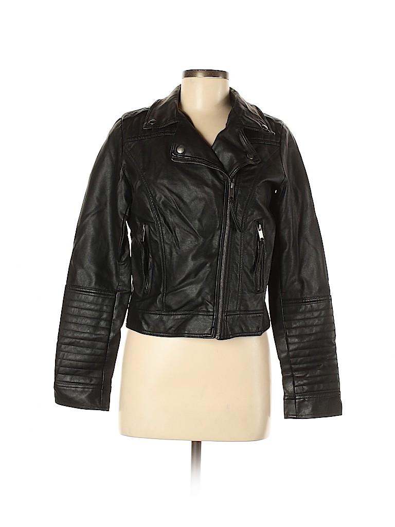 Xhilaration Women Faux Leather Jacket Size M