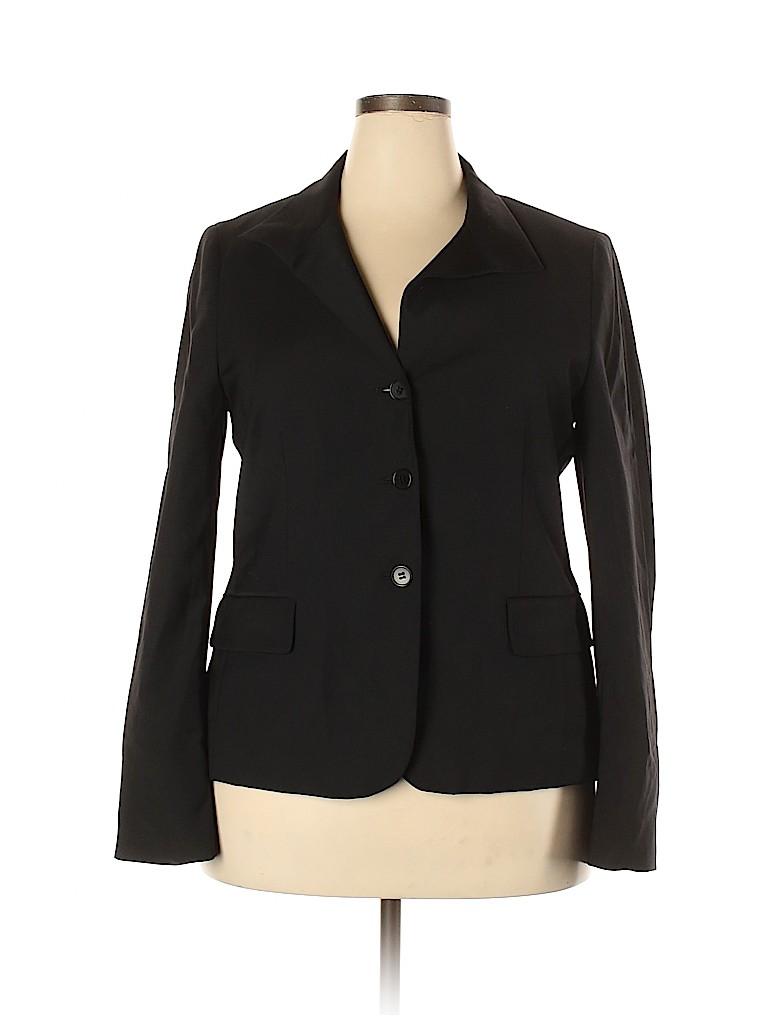 Talbots Women Wool Blazer Size 18 (Plus)
