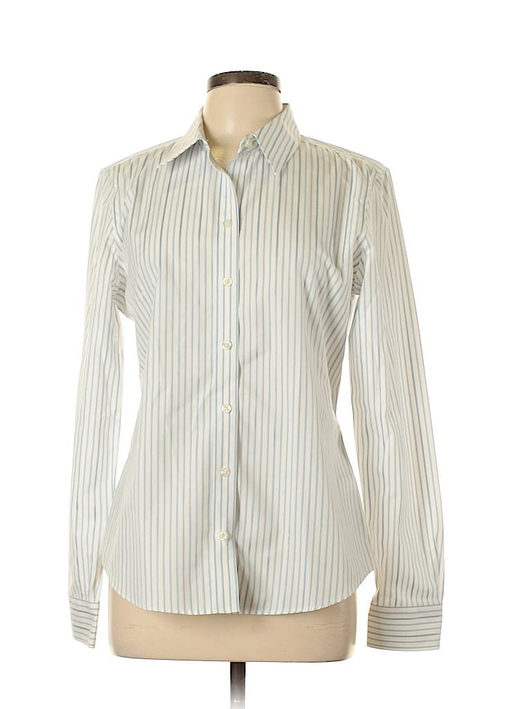 Banana Republic Women Long Sleeve Button-Down Shirt Size 12
