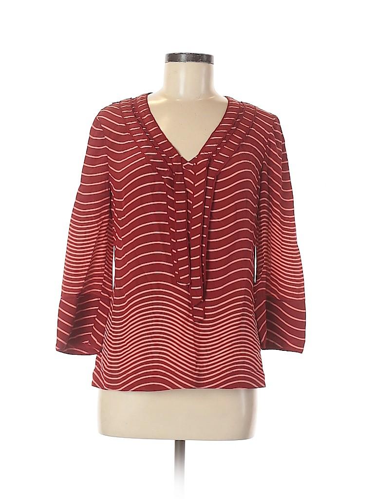 Tory Burch Women Long Sleeve Silk Top Size 8