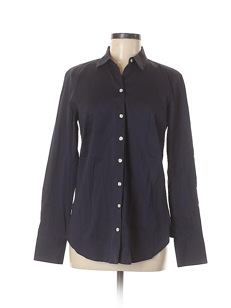Ann Taylor Women Long Sleeve Button-Down Shirt Size 8