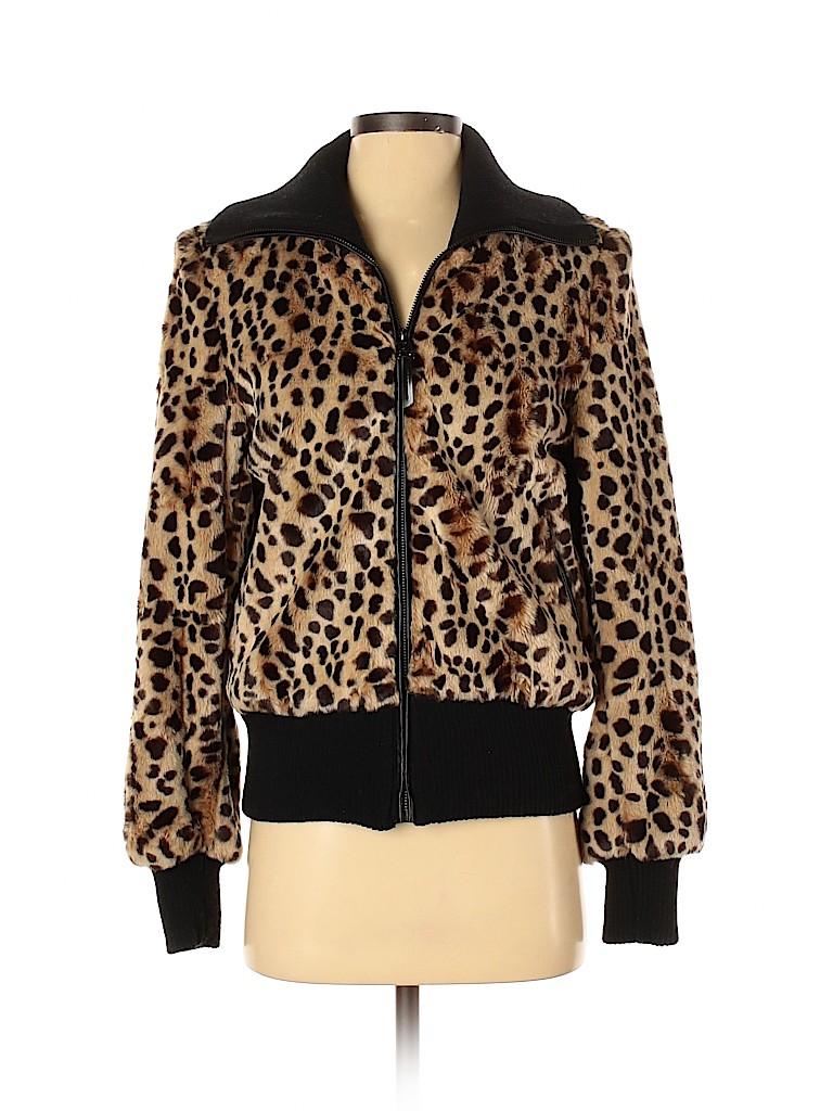 Via Spiga Women Faux Fur Jacket Size XS