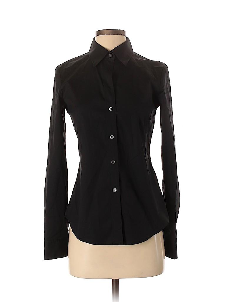 Theory Women Long Sleeve Button-Down Shirt Size S