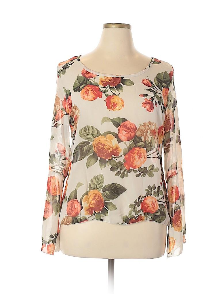 Rue21 Women Long Sleeve Blouse Size XL