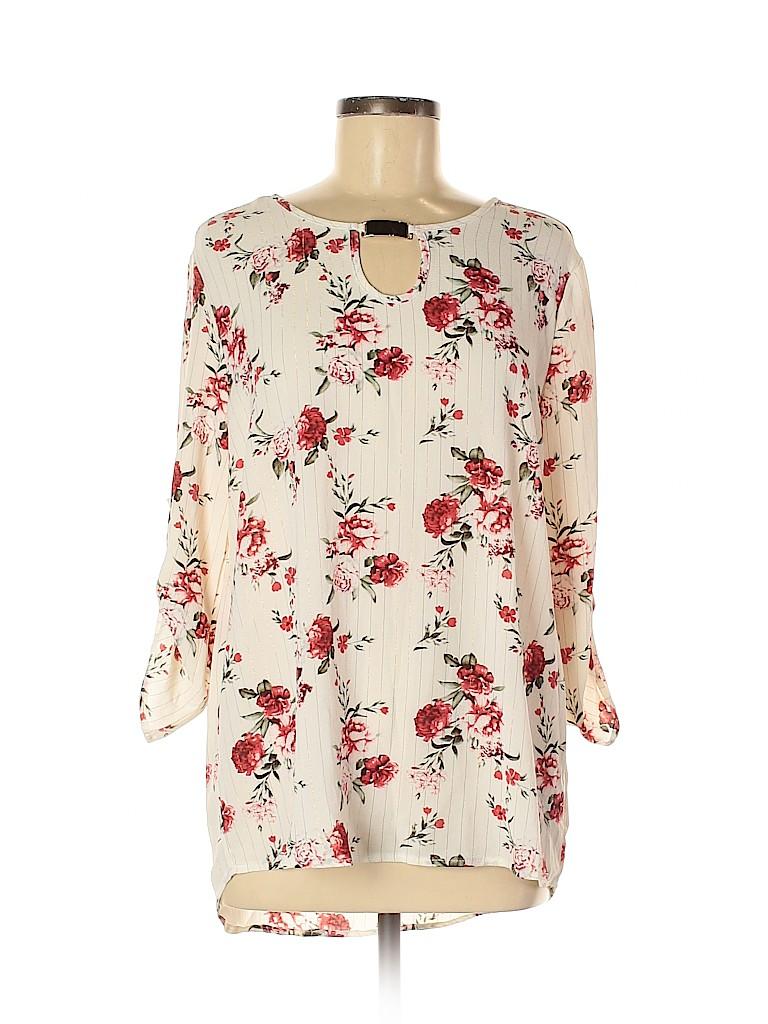 Rue21 Women 3/4 Sleeve Blouse Size M