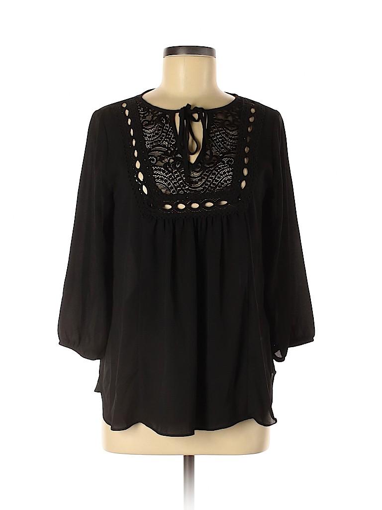 Iz Byer Women 3/4 Sleeve Blouse Size M