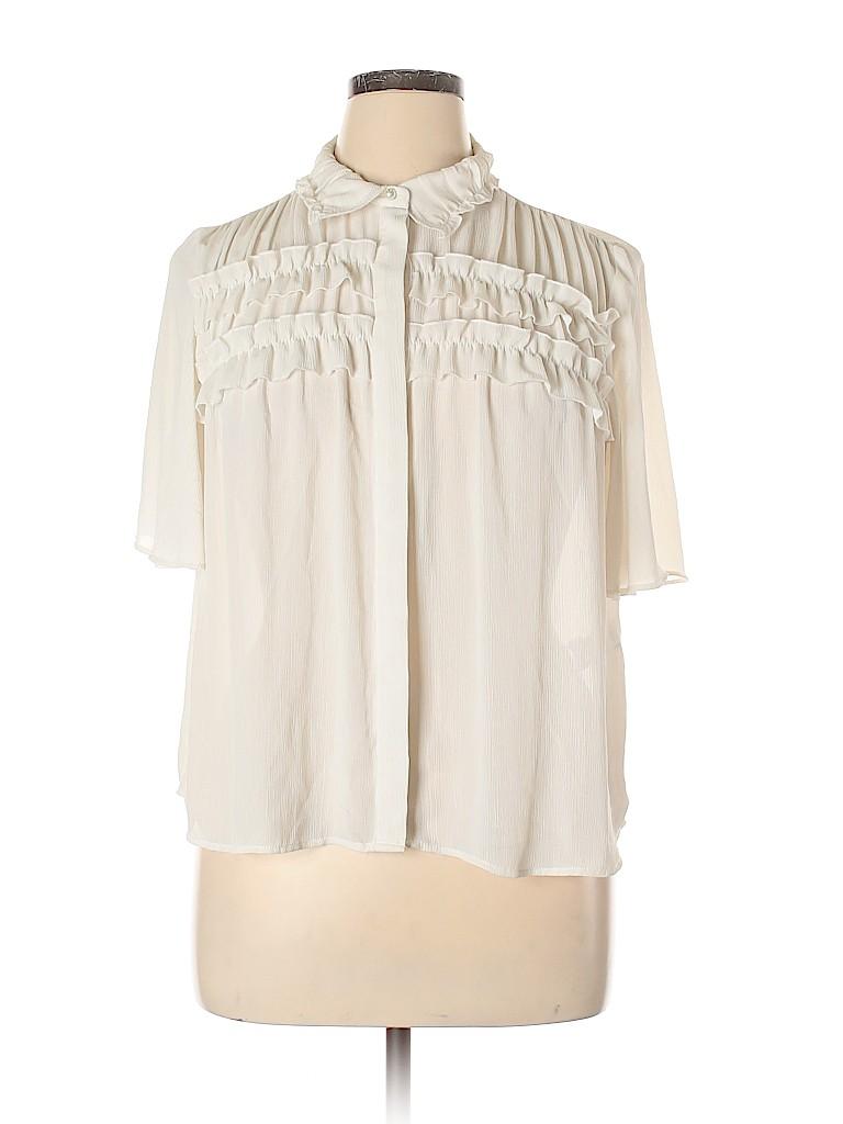 Zara Basic Women Short Sleeve Blouse Size XL