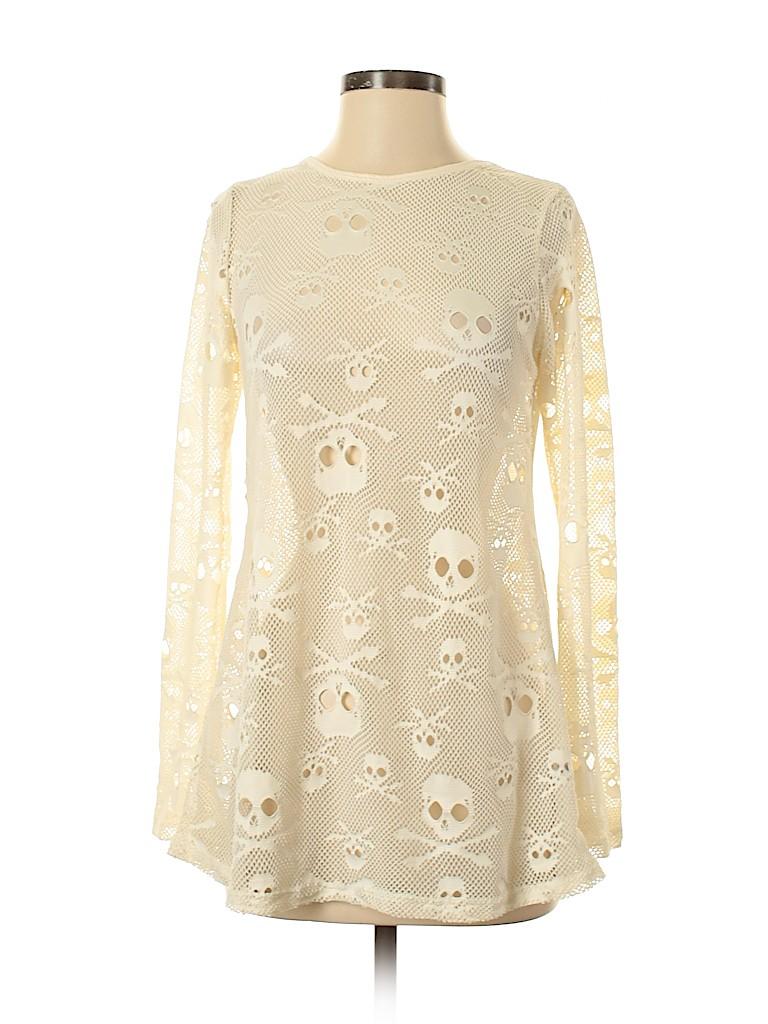 Royal Bones by Daang Women Long Sleeve Blouse Size S