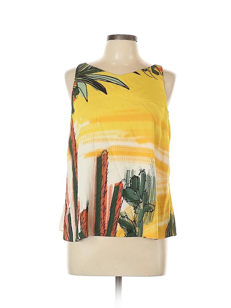 Elle Sasson Women Sleeveless Silk Top Size 42 (EU)