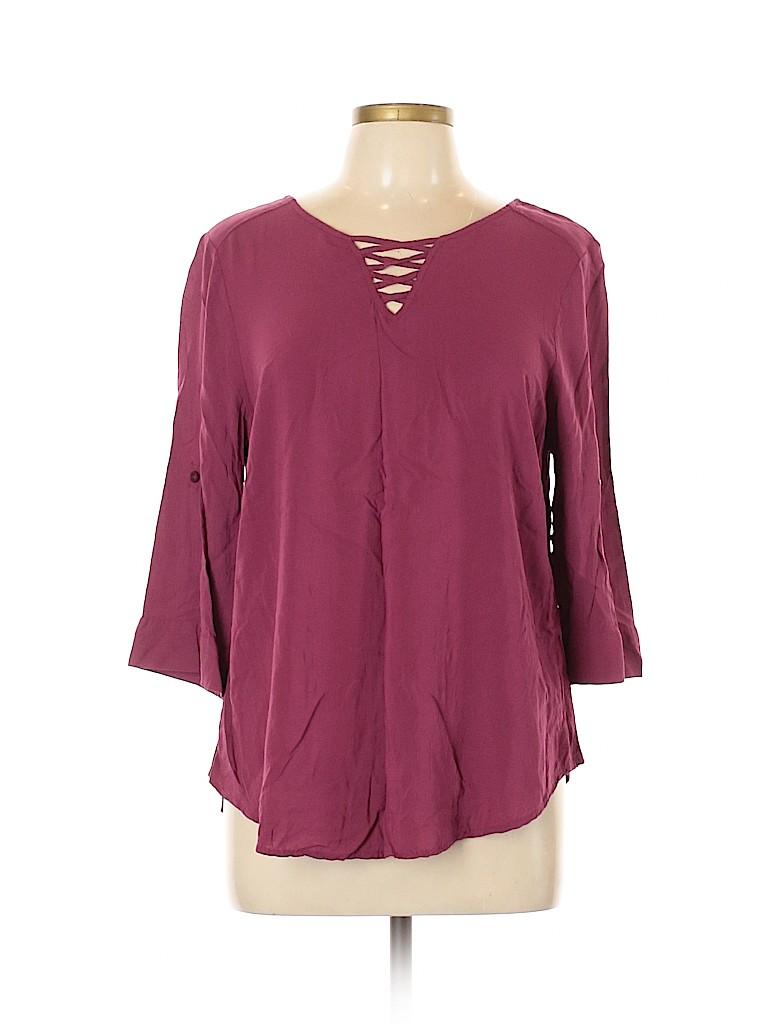 Torrid Women 3/4 Sleeve Blouse Size Lg Plus (0) (Plus)