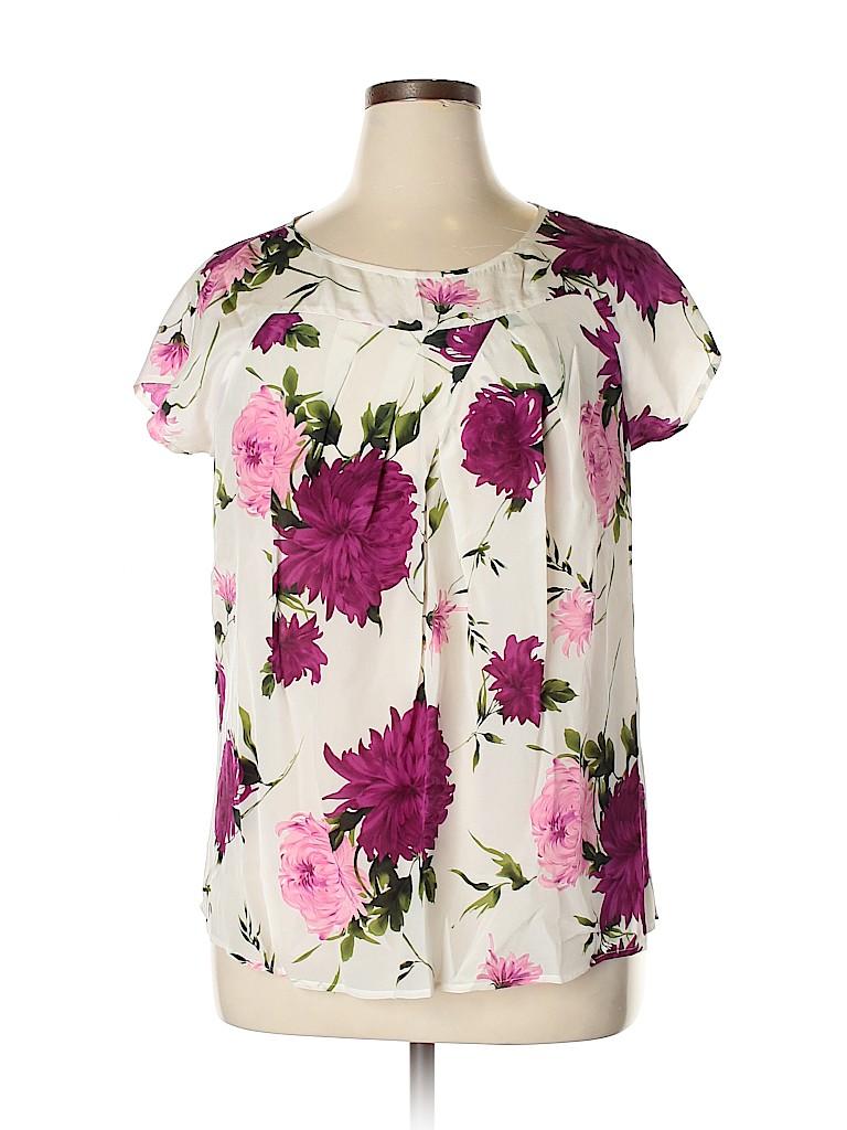 Talbots Women Short Sleeve Blouse Size 14