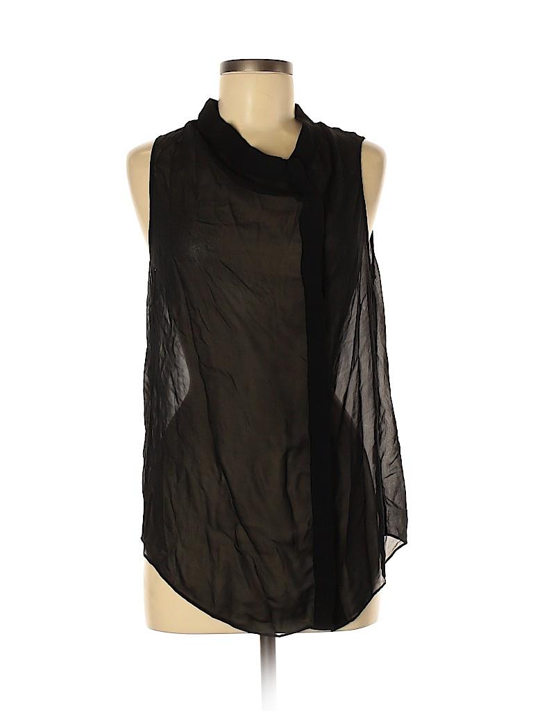 Brochu Walker Women Sleeveless Silk Top Size M