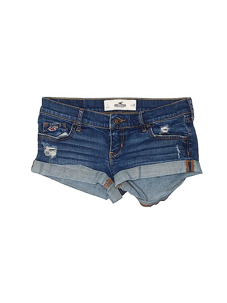 Hollister Women Denim Shorts Size 1