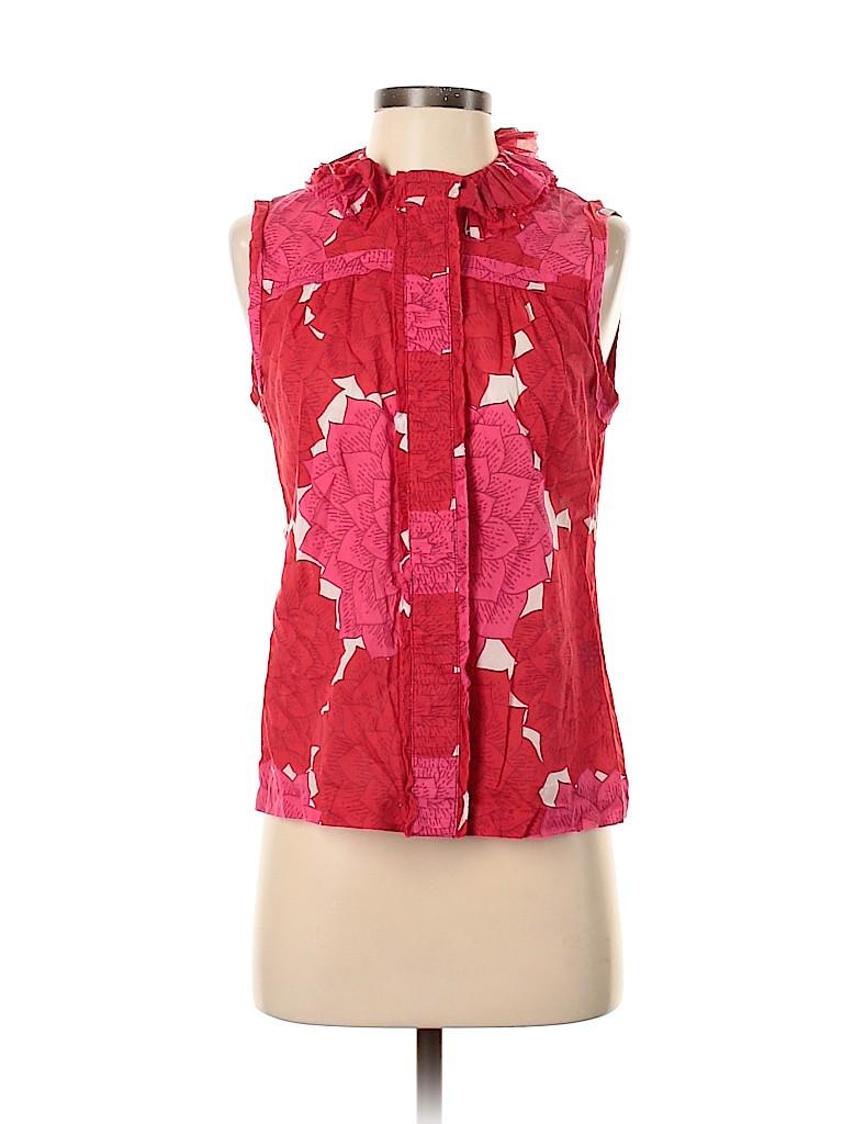 Tory Burch Women Sleeveless Button-Down Shirt Size 4