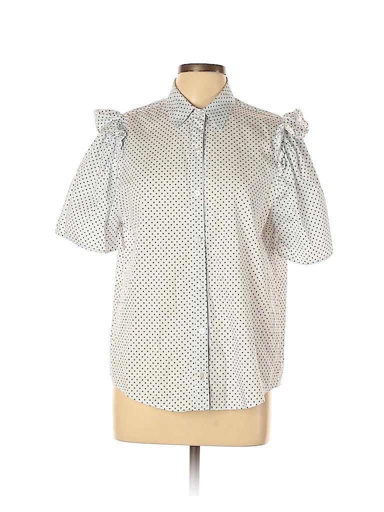 Clu TOO Women Short Sleeve Button-Down Shirt Size L