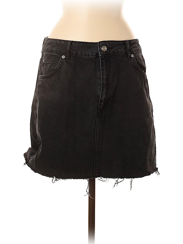 Topshop Women Denim Skirt Size 10