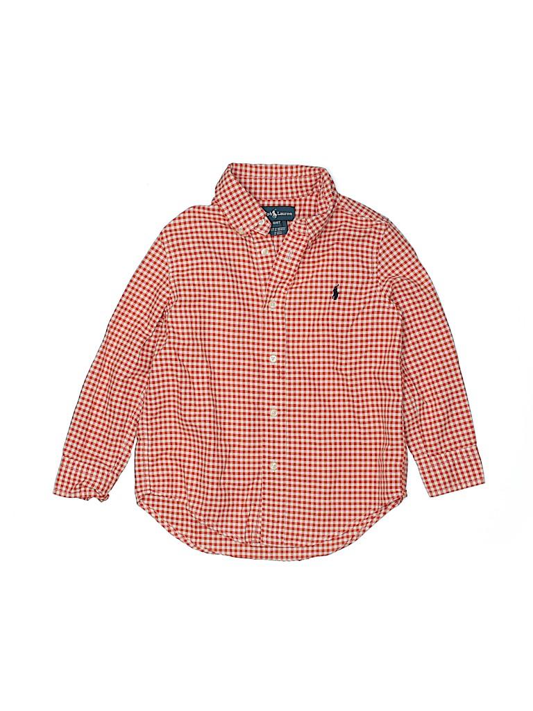 Ralph Lauren Boys Long Sleeve Button-Down Shirt Size 4T - 4